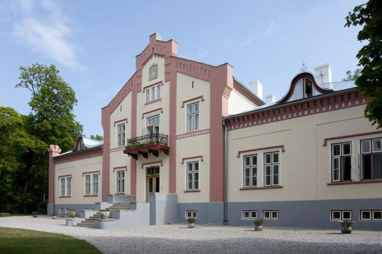 A historic house facade