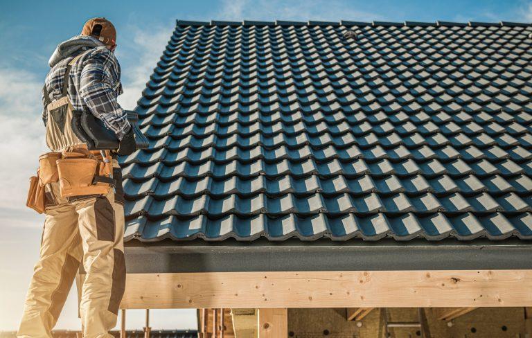 Tile Roofing Worker